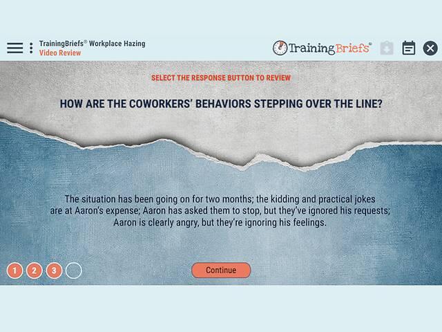 TrainingBriefs® Workplace Hazing