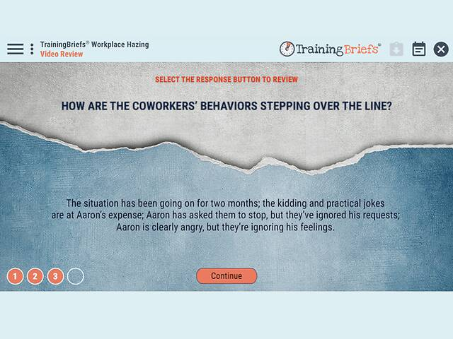 TrainingBriefs® Workplace Hazing