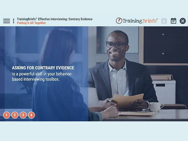 TrainingBriefs® Effective Interviewing: Contrary Evidence