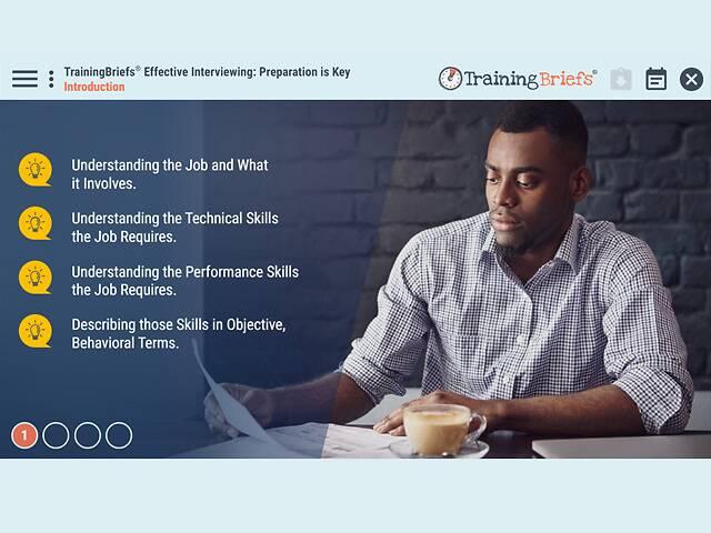 TrainingBriefs® Effective Interviewing: Preparation is Key