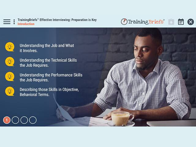 TrainingBriefs™ Effective Interviewing: Preparation is Key