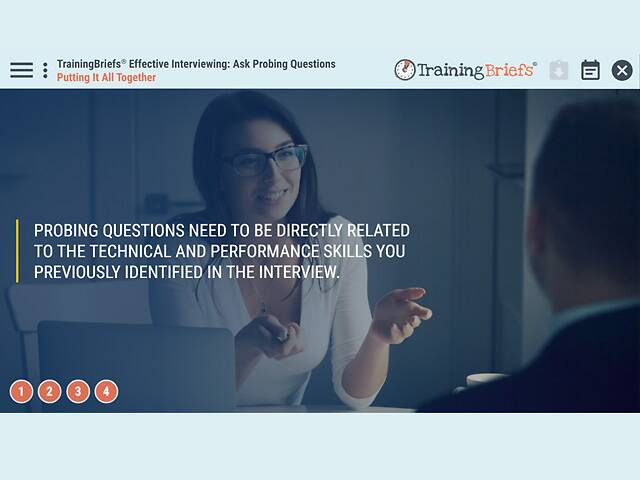 TrainingBriefs® Effective Interviewing: Ask Probing Questions