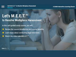 Let's M.E.E.T.™ to Resolve Workplace <u>Harassment</u> (eLearning Classic)