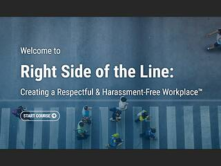 The Right Side of the Line: Creating a Respectful & <u>Harassment</u>-Free Workplace™ - Video + Post Test
