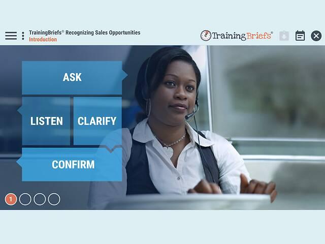 TrainingBriefs® Recognizing Sales Opportunities