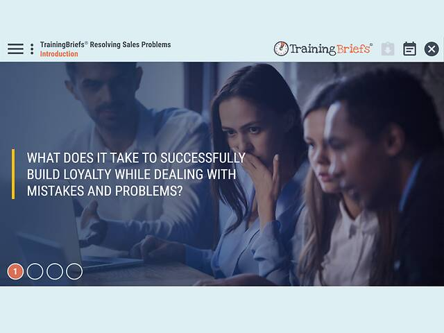 TrainingBriefs® Resolving Sales Problems