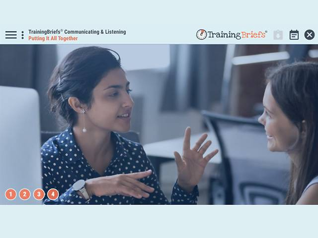 TrainingBriefs® Communicating & Listening