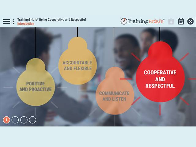 TrainingBriefs® Being Cooperative and Respectful