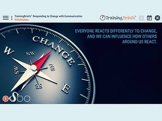 TrainingBriefs® Responding to <u>Change</u> with Communication