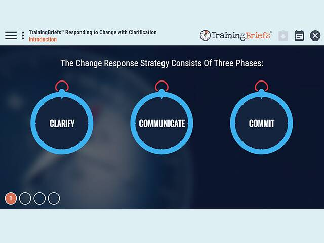 TrainingBriefs® Responding to Change with Clarification