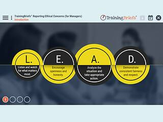 TrainingBriefs® Reporting Ethical Concerns (for Managers)