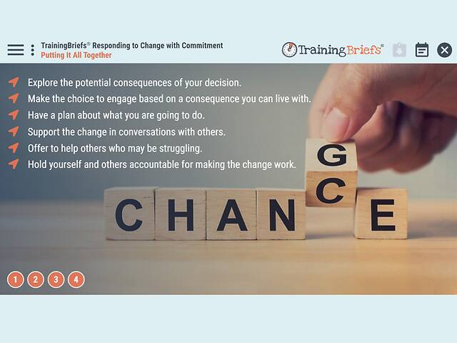 TrainingBriefs® Responding to Change with Commitment