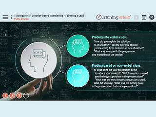 TrainingBriefs® Behavior-Based <u>Interviewing</u> – Following a Lead