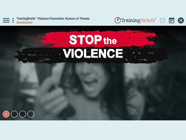 TrainingBriefs® Violence Prevention: Rumors of Threats