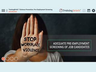 TrainingBriefs® Violence Prevention: Pre-Employment Screening