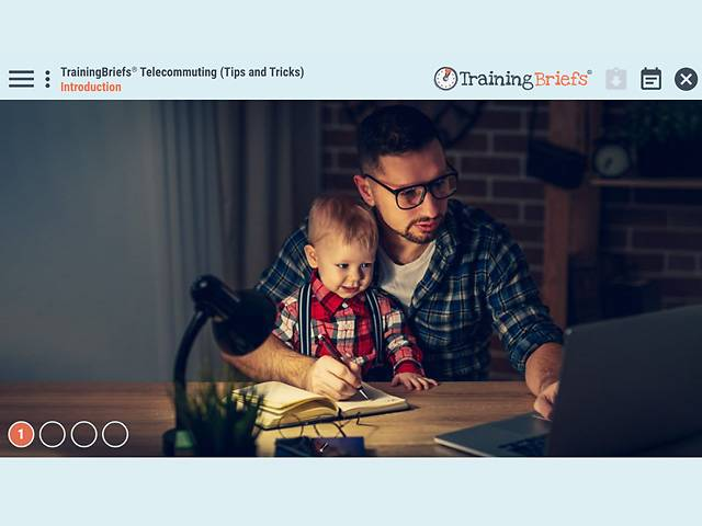 TrainingBriefs® Telecommuting (Tips and Tricks)