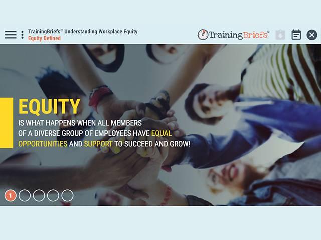 TrainingBriefs® Understanding Workplace Equity