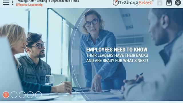 TrainingBriefs® Leading in Unprecedented Times