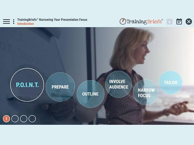TrainingBriefs® Narrowing Your Presentation Focus