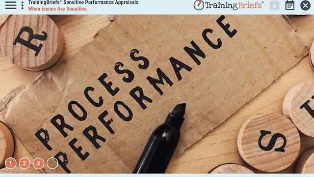 TrainingBriefs® Sensitive Performance Appraisals