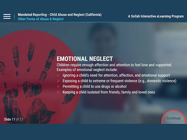 Mandated Reporting - Child Abuse and Neglect (California)