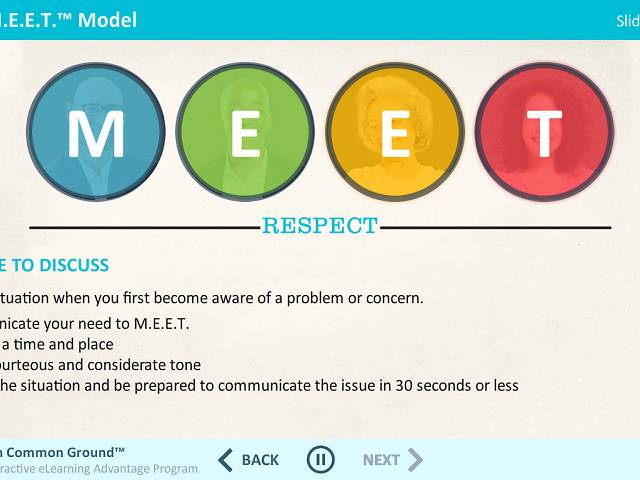 M.E.E.T. on Common Ground™: Speaking Up for Respect in the Workplace - Advantage Course