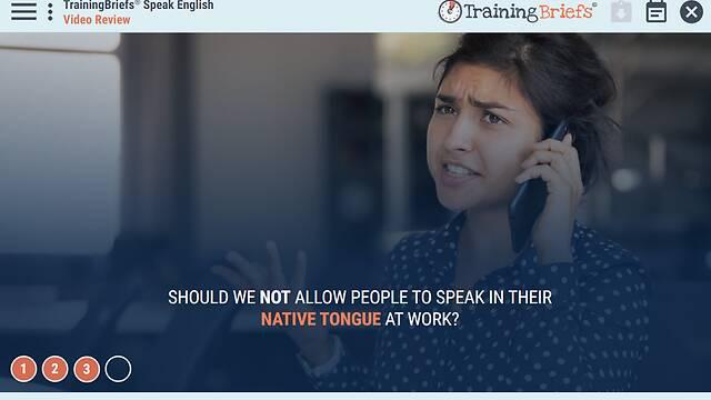 TrainingBriefs® Speak English!