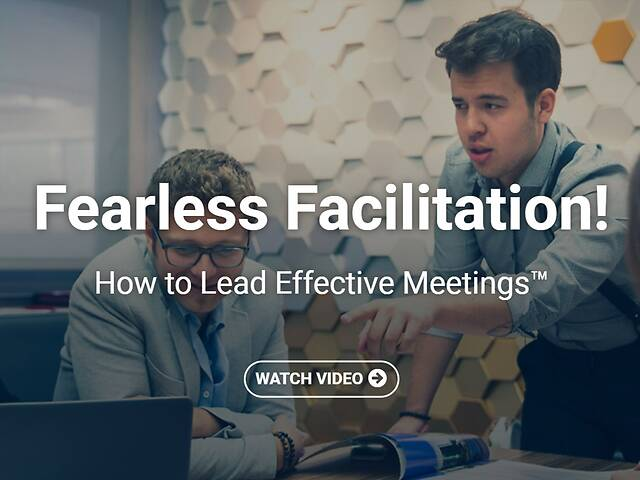 Fearless Facilitation!™ How to Lead Effective Meetings - Video Course