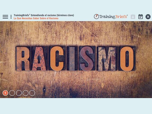 TrainingBriefs® Understanding Racism (Key Terms) (Spanish)