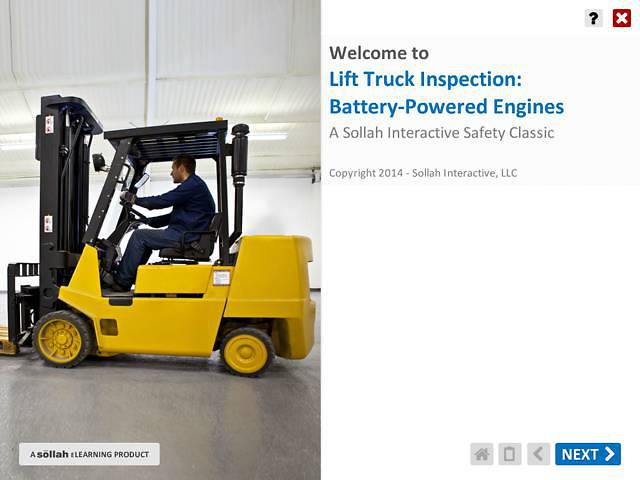 Lift Truck Inspection:  Battery-Powered Engines™