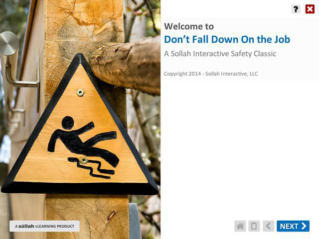 Don't Fall Down On the Job™: Preventing Slips, Trips and Falls