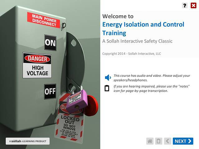 Energy Isolation & Control (Lock Out/Tag Out)™