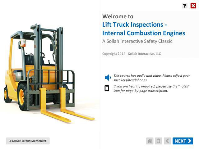 Lift Truck Inspection: Internal Combustion Engines™