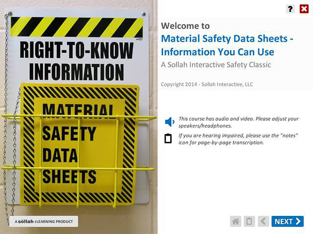 Material Safety Data Sheets - Information You Can Use™