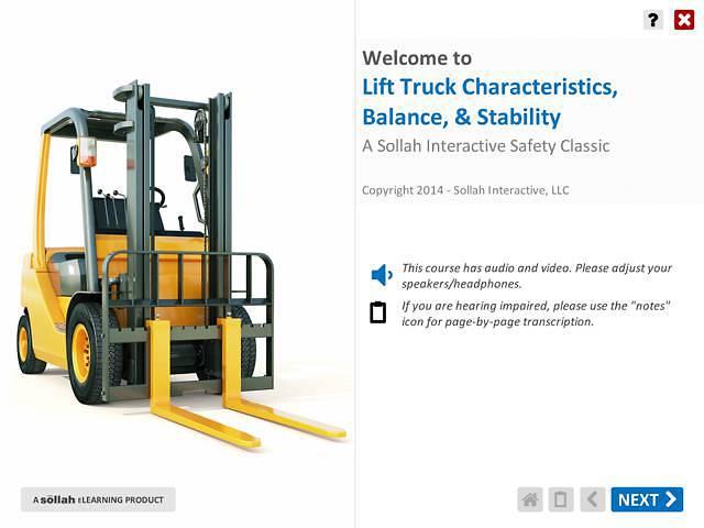 Lift Truck Characteristics, Balance, & Stability™