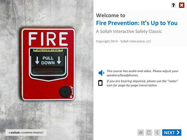 Fire Prevention: It's Up to You™