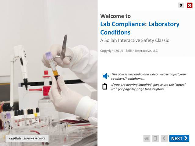 Lab Compliance: Laboratory Conditions™ (Using Chemicals Safely)