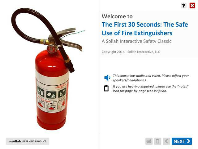 The First 30 Seconds: The Safe Use of Fire Extinguishers