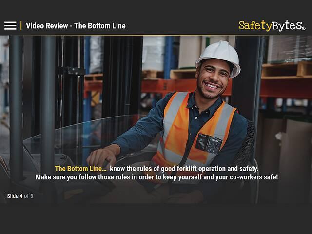 SafetyBytes® - Forklift Safety Common Sense Driving Skills