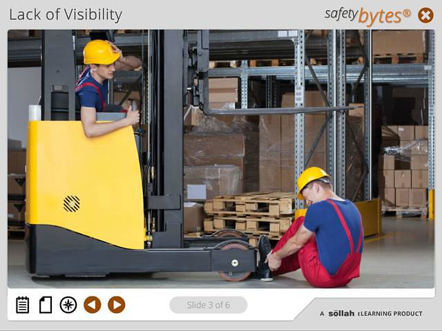 SafetyBytes® - Using Forklifts Safely (Visibility)