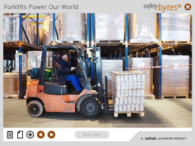 SafetyBytes® - Forklift Safety Turning and Stopping