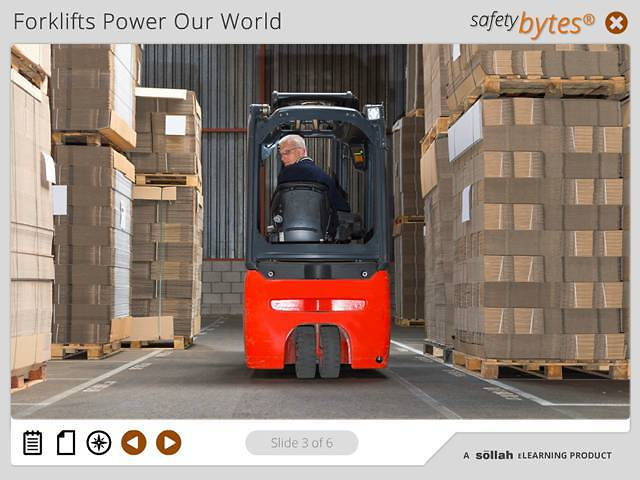 SafetyBytes® - Forklift Safety Driving With A Load