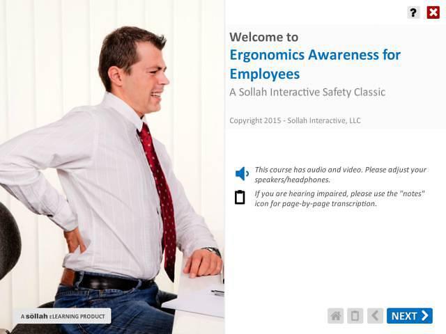 Ergonomics Awareness for Employees™