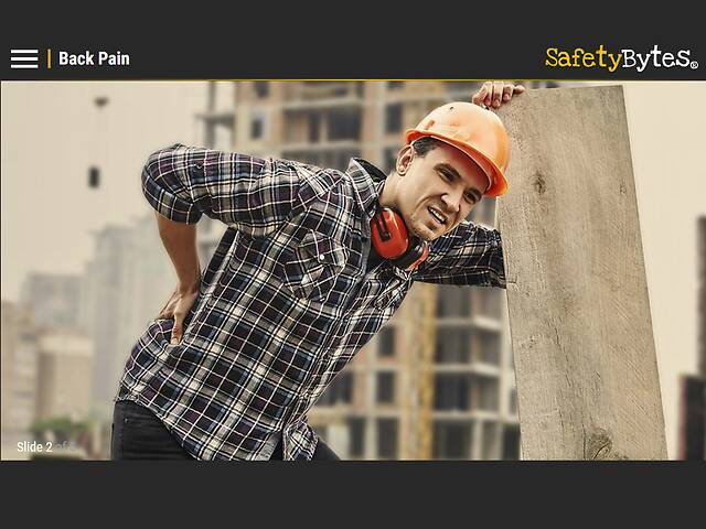 SafetyBytes® - Back Safety - Force and Repetition