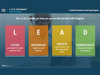 L.E.A.D. with Integrity™: Promoting a Culture of Ethical Conduct and Compliance