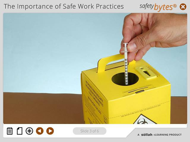 SafetyBytes® - Bloodborne Diseases: Needles and Sharps