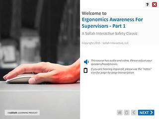 Ergonomics Awareness For Supervisors™ - Part 1