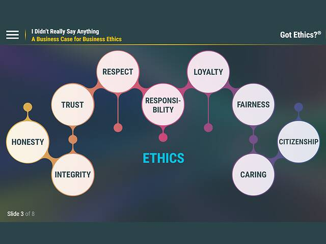 Got Ethics?® I Didn't Really Say Anything