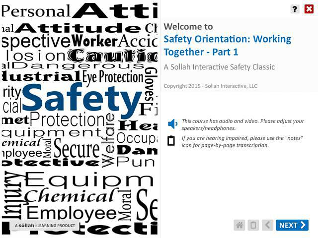Safety Orientation - Working Together™ - Part 1