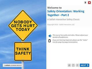 Safety Orientation - Working Together™ - Part 2